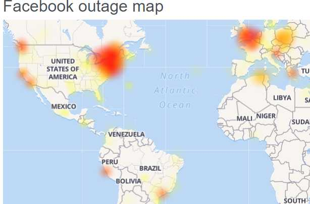 Facebook Down (not working) for many users
