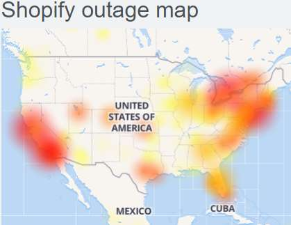 Shopify Outage : Shopify wesbite down