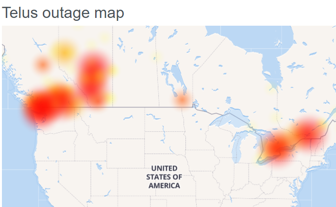 Bell, Telus, Virgin Mobile, MTS,: Outage [Internet not ...