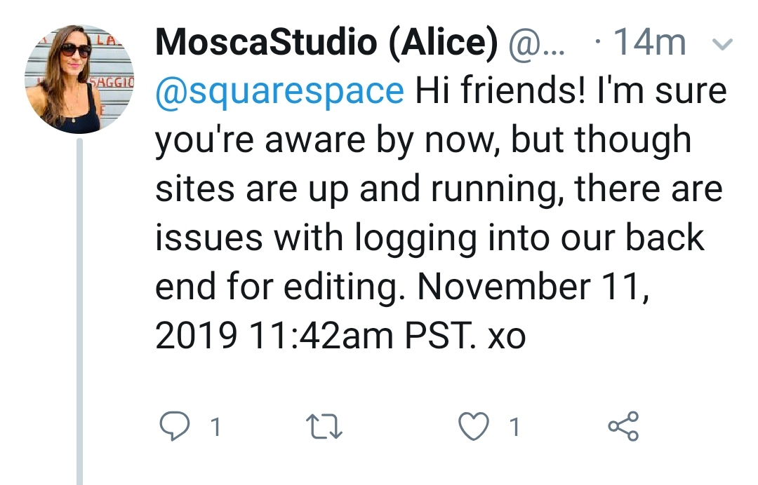 Update Nov 19 Squarespace Not Working Squarespace Down
