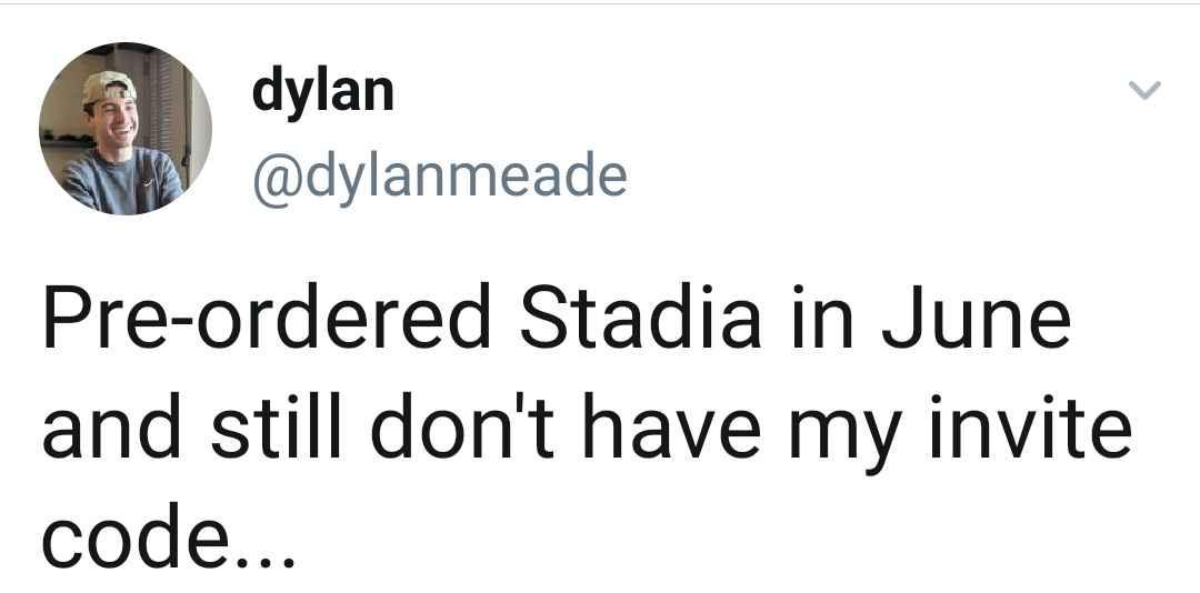 Not getting Google Stadia invite code