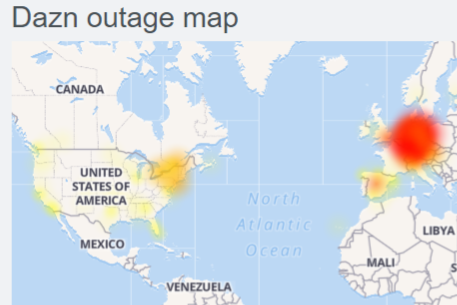 DAZN servers down : streaming not working
