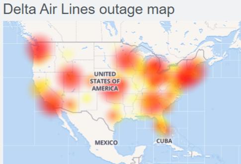 Delta Air Lines app not working