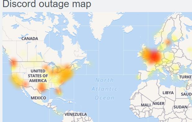 Discord servers down