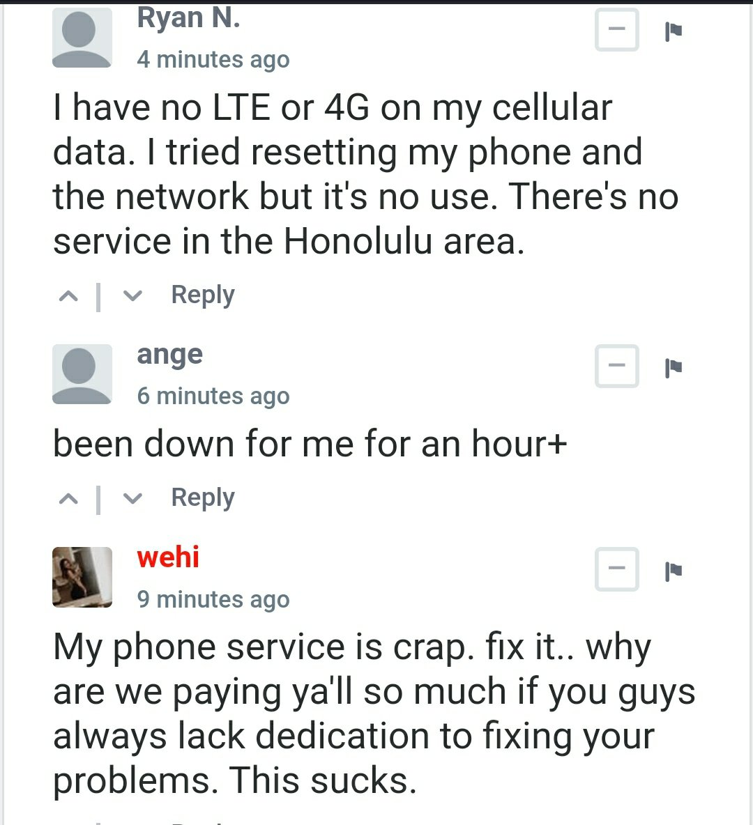 AT&T down & outage info : No cell & phone service for many ... Cell Service Outage Map on cell tower map, cell phone service area map, at&t wireless map, coverage map, at&t cell site map,