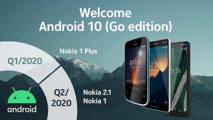Nokia 1 Plus Android 10 update