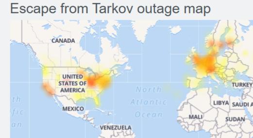 escape from tarkov down detector
