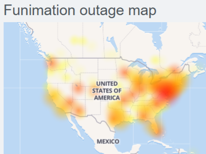 Funimation website down (not working)