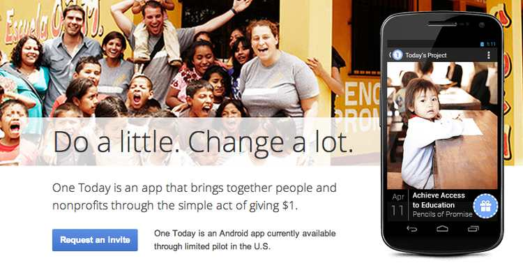 Google shutting down One Today (Donation app) after 7 years