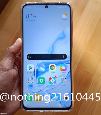 Xiaomi Redmi Note 9 leaked images