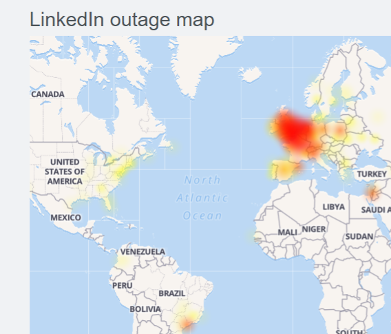 LinkedIn Down (not working) for some users