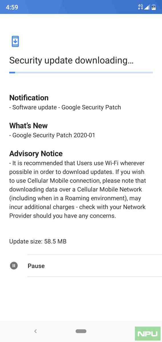 Nokia 5.1 Plus January security update