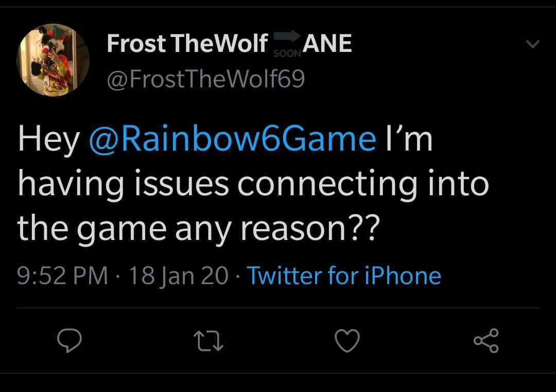 Rainbow Six Siege Servers down (not working)