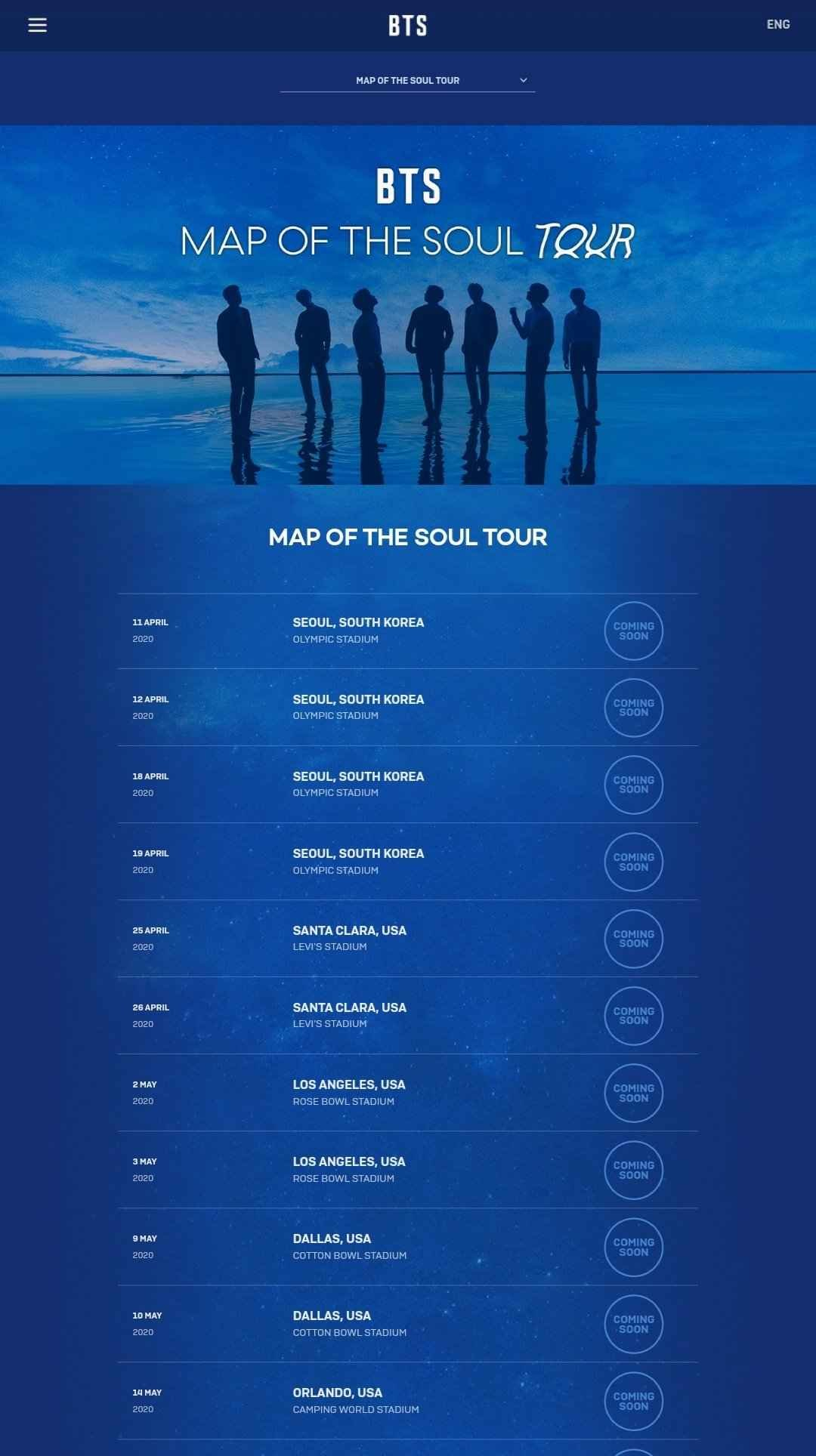 Bts Map Of The Soul Tour Global Official Fanclub Army Tickets Online Presale By Ticketmaster Digistatement