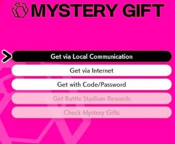 Pokemon Sword & Shield Mystery Gifts Codes