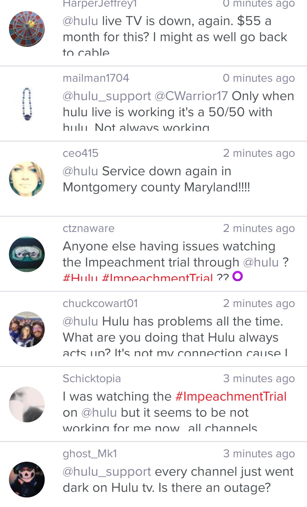 Hulu Down : Hulu live TV down & not working