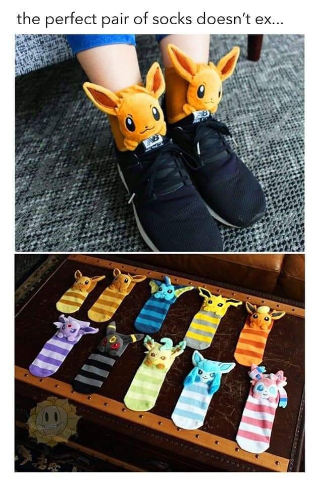 All Eevee Evolutions Plush socks