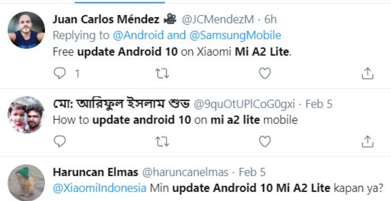 Mi A2 Lite Android 10 update