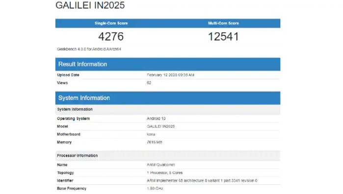 OnePlus 8 spotted in Geekbench