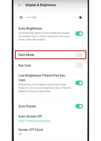 Apply Dark mode in Oppo phones (ColorOS 7)