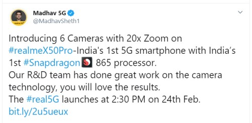 Realme X50 Pro 5G specifications
