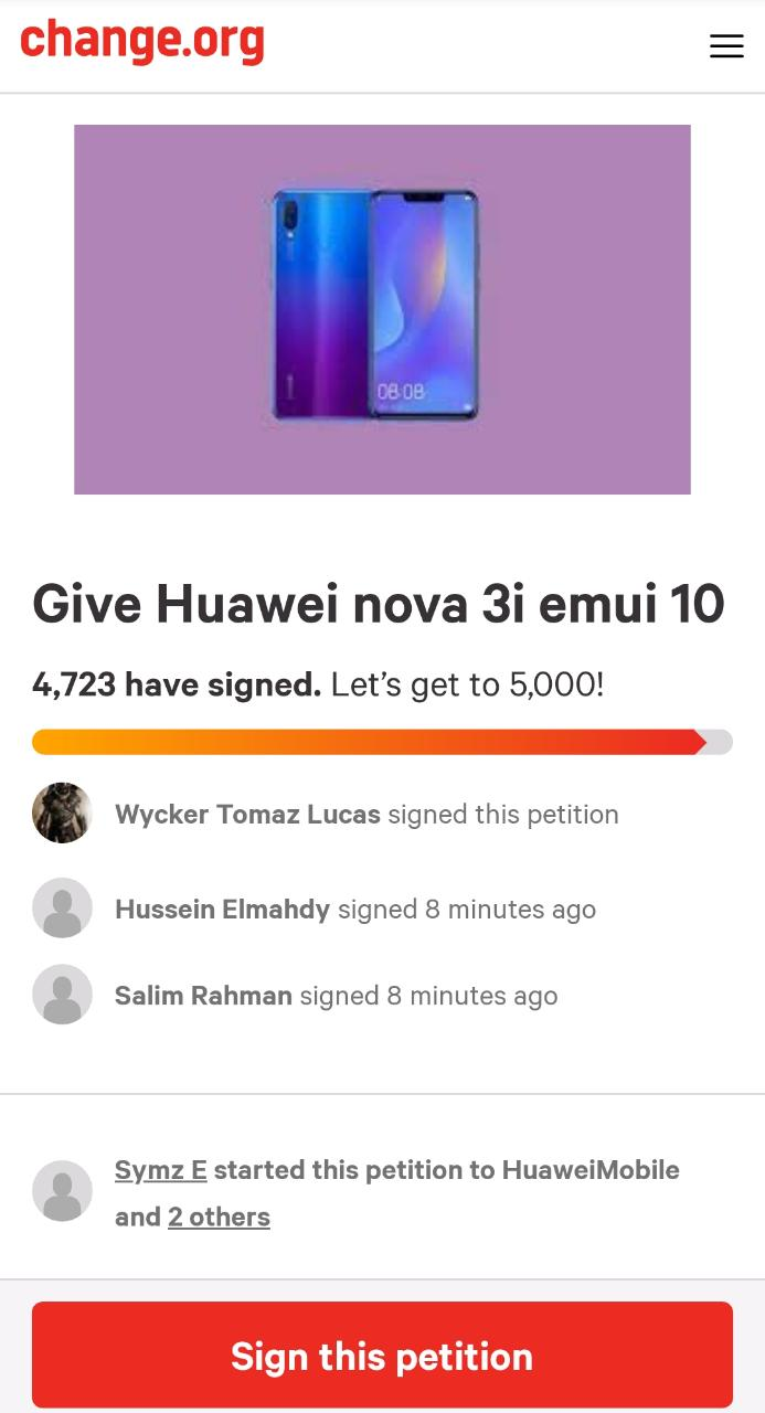 Huawei Nova 3i Android 10 update [EMUI 10]