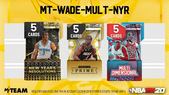 Locker codes nba 2k20
