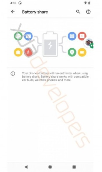 Google Pixel Reverse Charging
