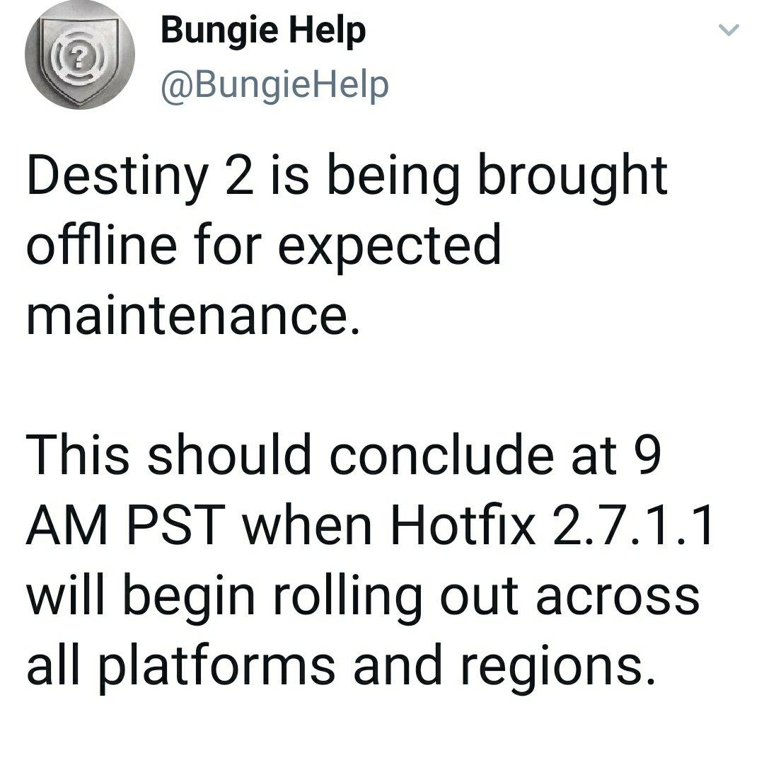 Destiny 2 Bungie servers down