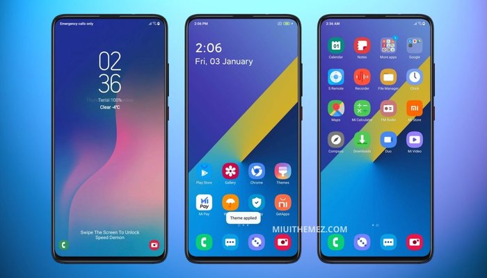 Samsung Galaxy A30 theme