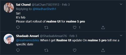 Realme Q and Realme 5 Pro Realme UI (Android 10) update
