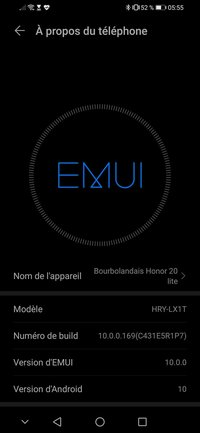 Honor 20 Lite Android 10 Update