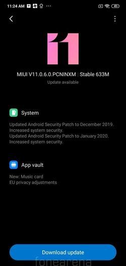 Redmi 8a MIUI Update