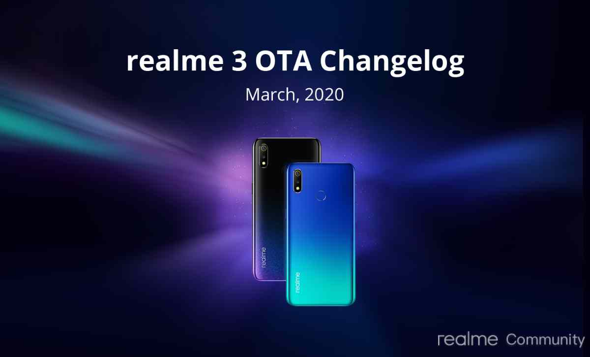 Realme 3 March 2020 update