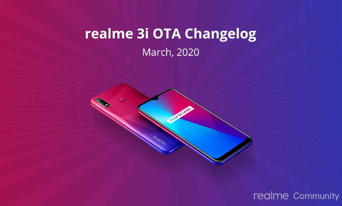 Realme 3i March 2020 Securiy Patch rolling out with VoWifi feature, Android 10 update awaited