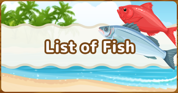 Animal Crossing New Horizons Fish List with Sell Price
