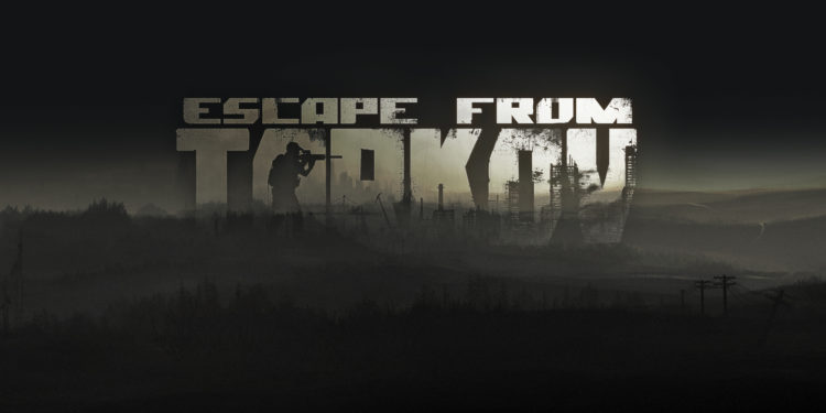 Dark and moody image of the Escape from Tarkov logo