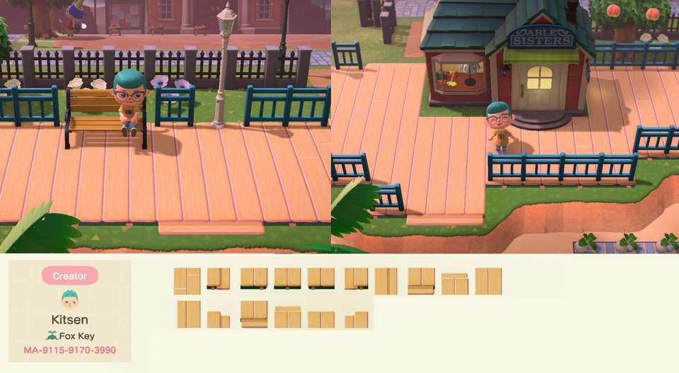 Animal Crossing New Horizons New Tiles Streets Wood
