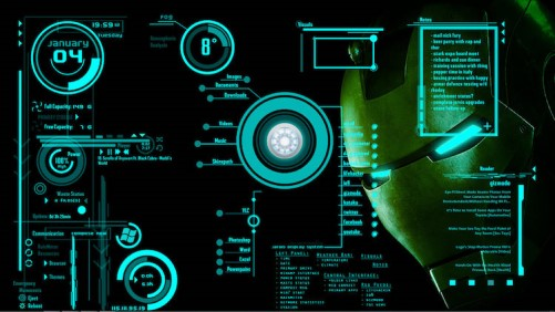Iron Man's Jarvis-themed desktop