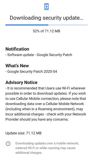 Nokia 6.2 Aprril security update