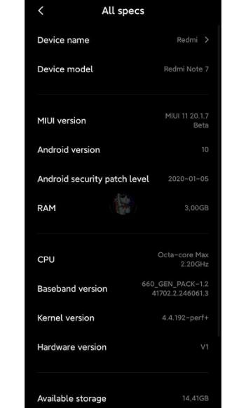 Redmi Note 7 Android 10 status