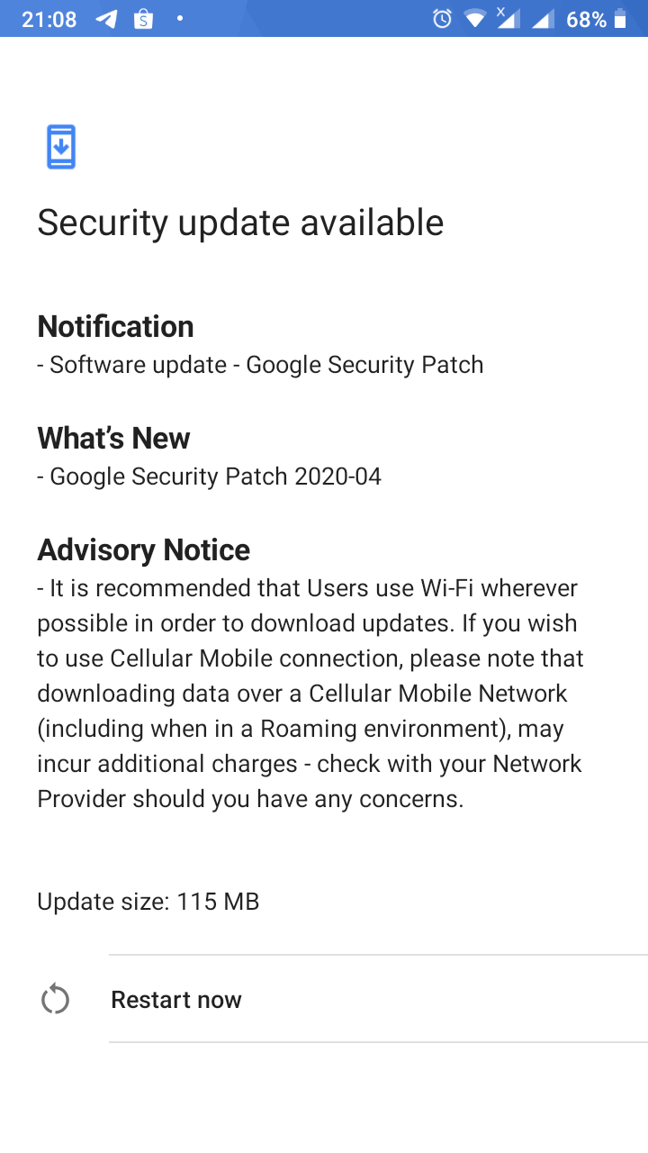 Nokia 5 April security patch