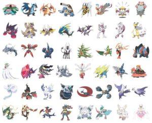 List 1 Mega Evolution