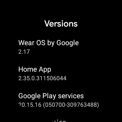 Latest Wear OS Update