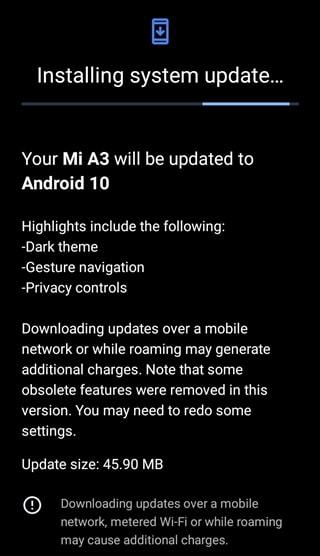 Xiaomi Mi A3 June Update