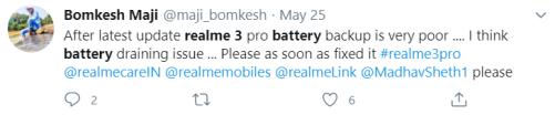 Realme 3 Pro battery drain issue