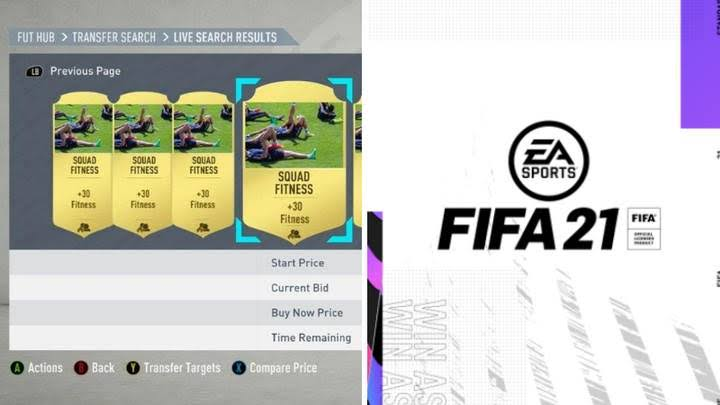Ultimate Team Fitness Cards Removed