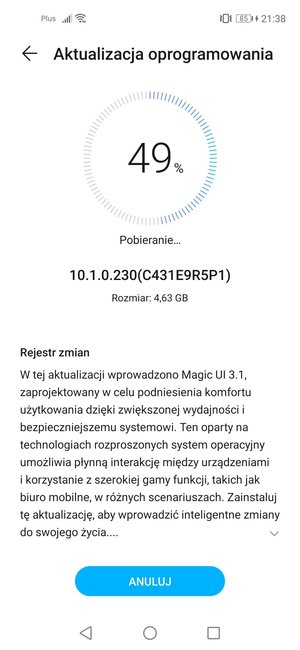 Honor 20 Pro Magic UI 3.1