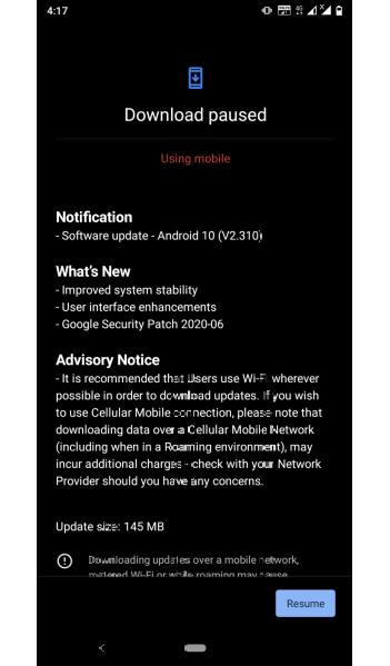 Nokia 3.2 latest update