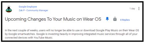 Google Play Music shutdown